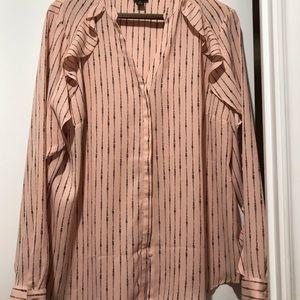 Worthington xl pink blouse